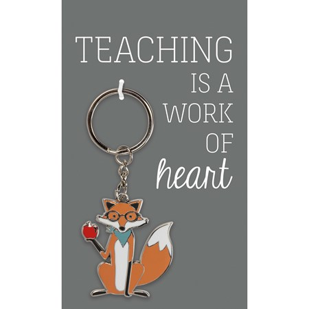 "Keychain - Work Of Heart - 1.75"" x 1.75"", Card: 3"" x 5"" - Metal, Enamel, Paper"