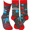 Socks - It's My Birthday & I'll Dance If I Want To - One Size Fits Most - Cotton, Nylon, Spandex