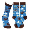 Socks - My Therapist Has Paws - One Size Fits Most - Cotton, Nylon, Spandex