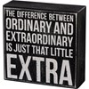 "Box Sign - Just That Little Extra - 5"" x 5"" x 1.75"" - Wood"