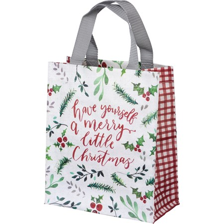"Daily Tote - Have A Merry Little Christmas - 8.75"" x 10.25"" x 4.75"" - Post-Consumer Material, Nylon"