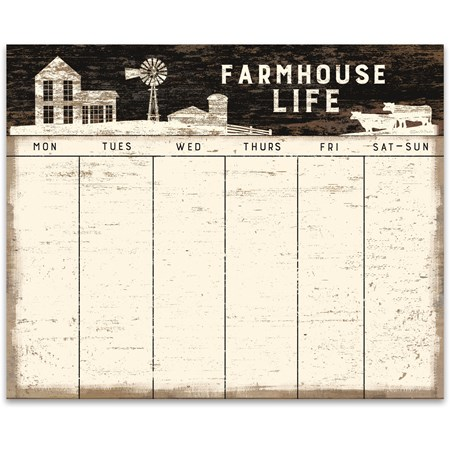 "Notepad - Farmhouse Life - 9"" x 7.25"" x 0.25"" - Paper"