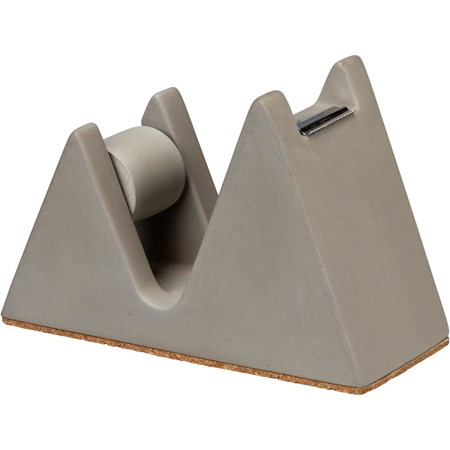 "Tape Dispenser - 2"" x 3.25"" x 4.75"" - Cement, Cork, Metal"