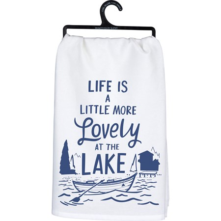 "Dish Towel - Lovely - 28"" x 28"" - Cotton"