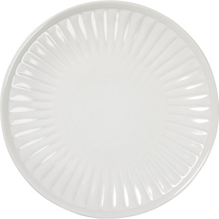 "Salad Plate - Fluted - 9.50"" Diameter - Stoneware"
