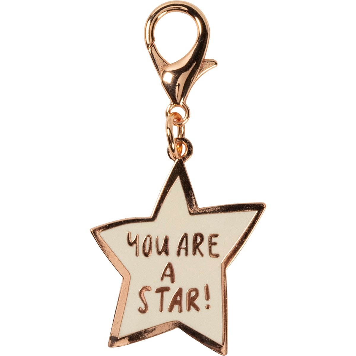 "Charm - You Are A Star - 1.50"" x 1.50"", Card: 3"" x 5"" - Metal, Enamel, Paper"