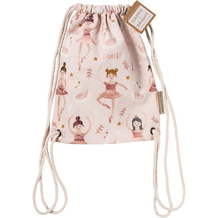 "Drawstring Bag - Dance - 10"" x 12.50"" - Cotton"