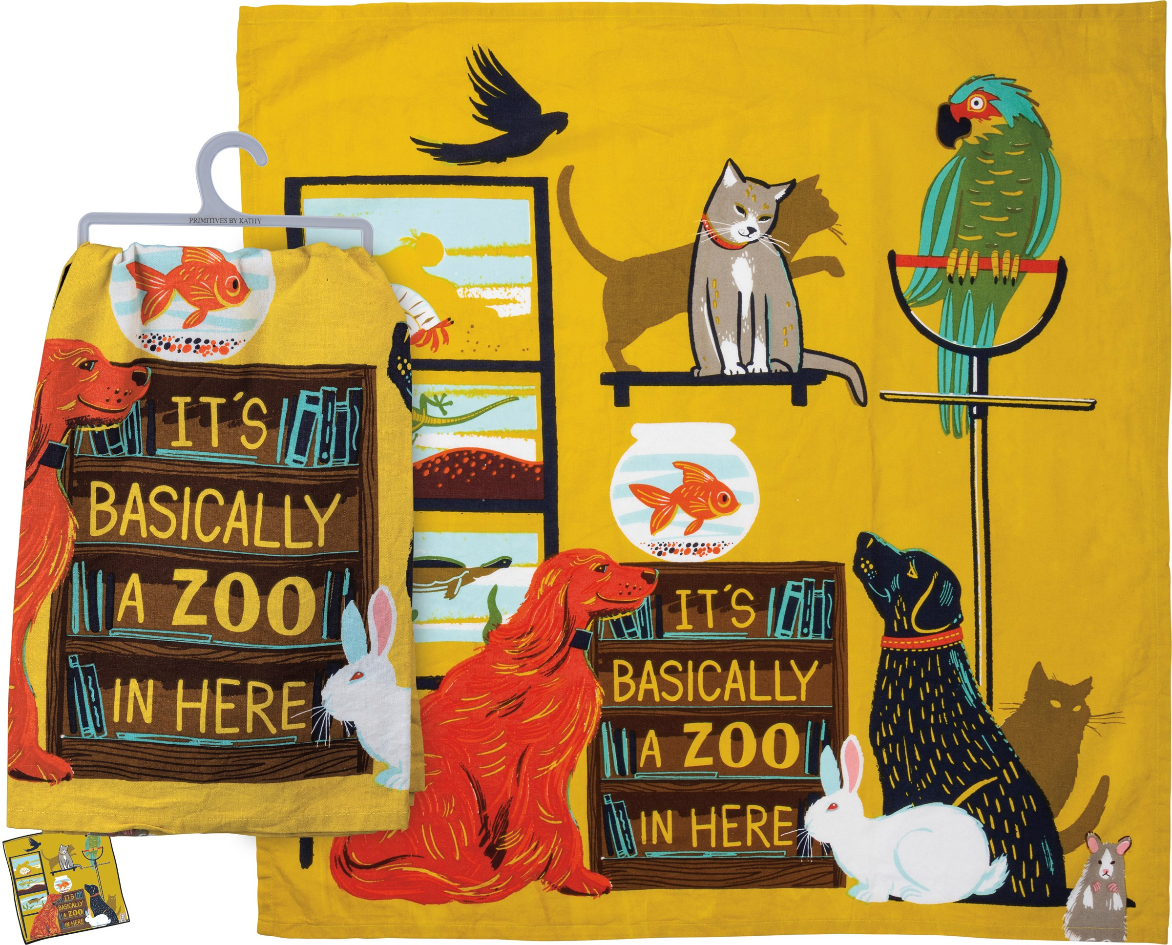 Primitives by Kathy Dish Towel Its Basically A Zoo in Here