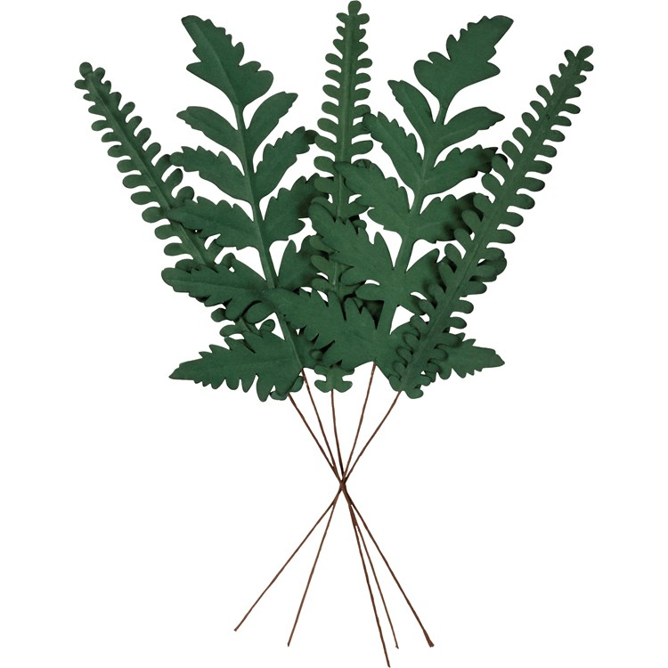 "Pick Set - Fern - 17"" Tall - Paper, Wire"