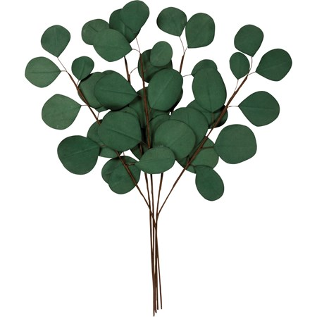 "Pick Set - Eucalyptus - 17"" Tall - Paper, Wire"