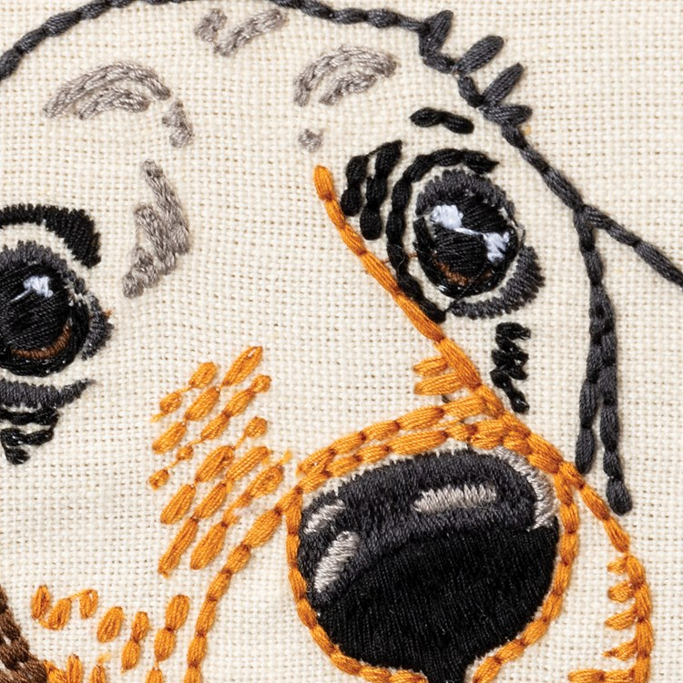 "Dish Towel - Love My Dachshund - 20"" x 26""  - Cotton, Linen"