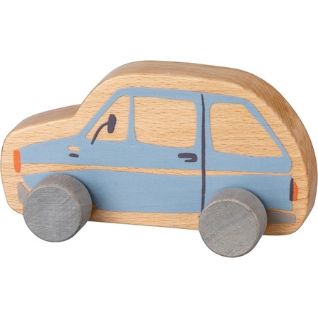 "Rolling Toy - Car - 7"" x 3.50"" x 2.75"" - Wood"