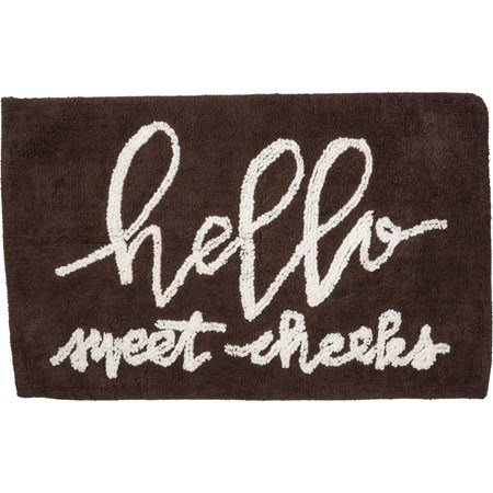 "Bath Rug - Hello Sweet Cheeks - 32"" x 20"" - Cotton"