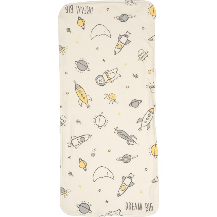 "Burp Cloth Set - Dream Big - 8"" x 18"" - Cotton"