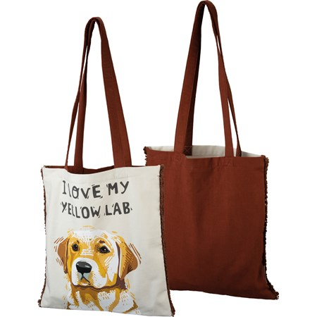 "Tote - I Love My Yellow Lab - 14"" x 15.50"" - Cotton"