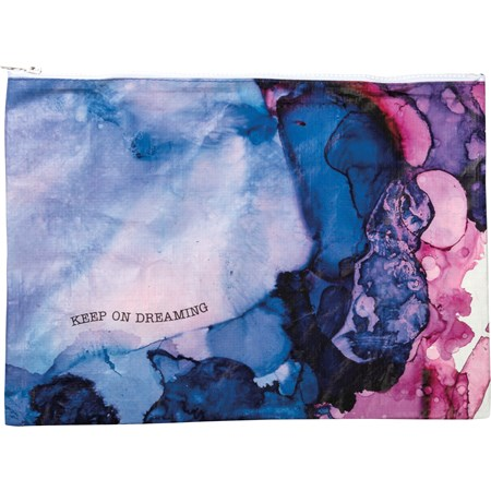 "Zipper Folder - Keep On Dreaming - 14.25"" x 10"" - Post-Consumer Material, Metal"