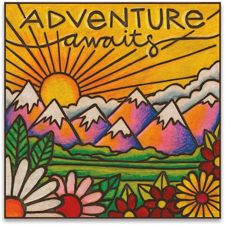 "Magnet - Adventure Awaits - 3"" x 3"" - Magnet"
