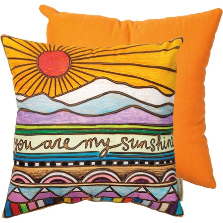 "Pillow - You Are My Sunshine - 16"" x 16"" - Cotton"