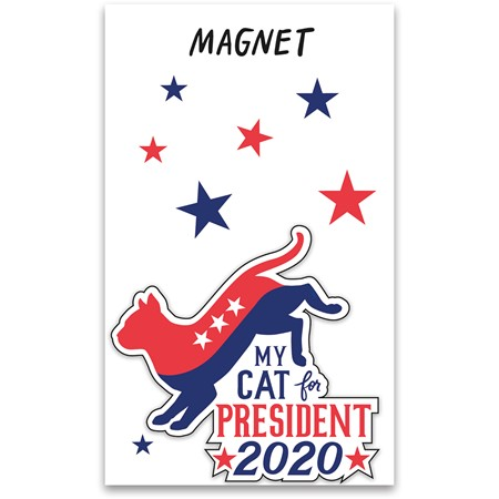 "Magnet - My Cat For President 2020 - 3"" x 2.75"", Card 3"" x 5""  - Magnet, Paper"
