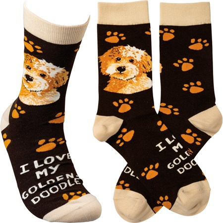 Socks - I Love My Goldendoodle - One Size Fits Most - Cotton, Nylon, Spandex