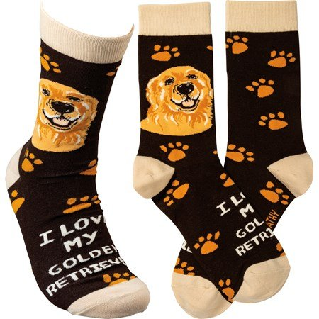 Socks - I Love My Golden Retriever - One Size Fits Most - Cotton, Nylon, Spandex