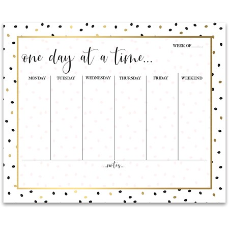 "Notepad - One Day At A Time - 9"" x 7.25"" x 0.25"" - Paper"