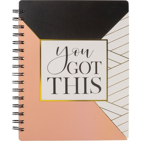 "Spiral Notebook - You Got This - 5.75"" x 7.50"" x 0.50"" - Paper, Metal"