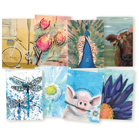 "Note Card Set - Friendship - 4.25"" x 5.50"" - Paper"