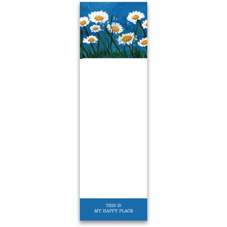 "List Notepad - This Is My Happy Place - 2.75"" x 9.50"" x 0.25"" - Paper, Magnet"
