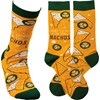 Socks - Just Here For The Nachos - One Size Fits Most - Cotton, Nylon, Spandex