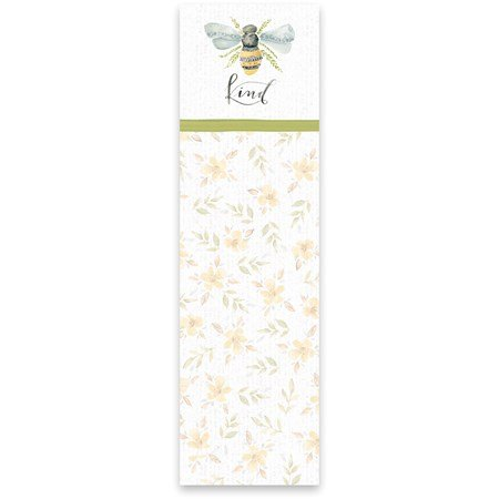 "List Notepad - Kind - 2.75"" x 9.50"" x 0.25"" - Paper, Magnet"