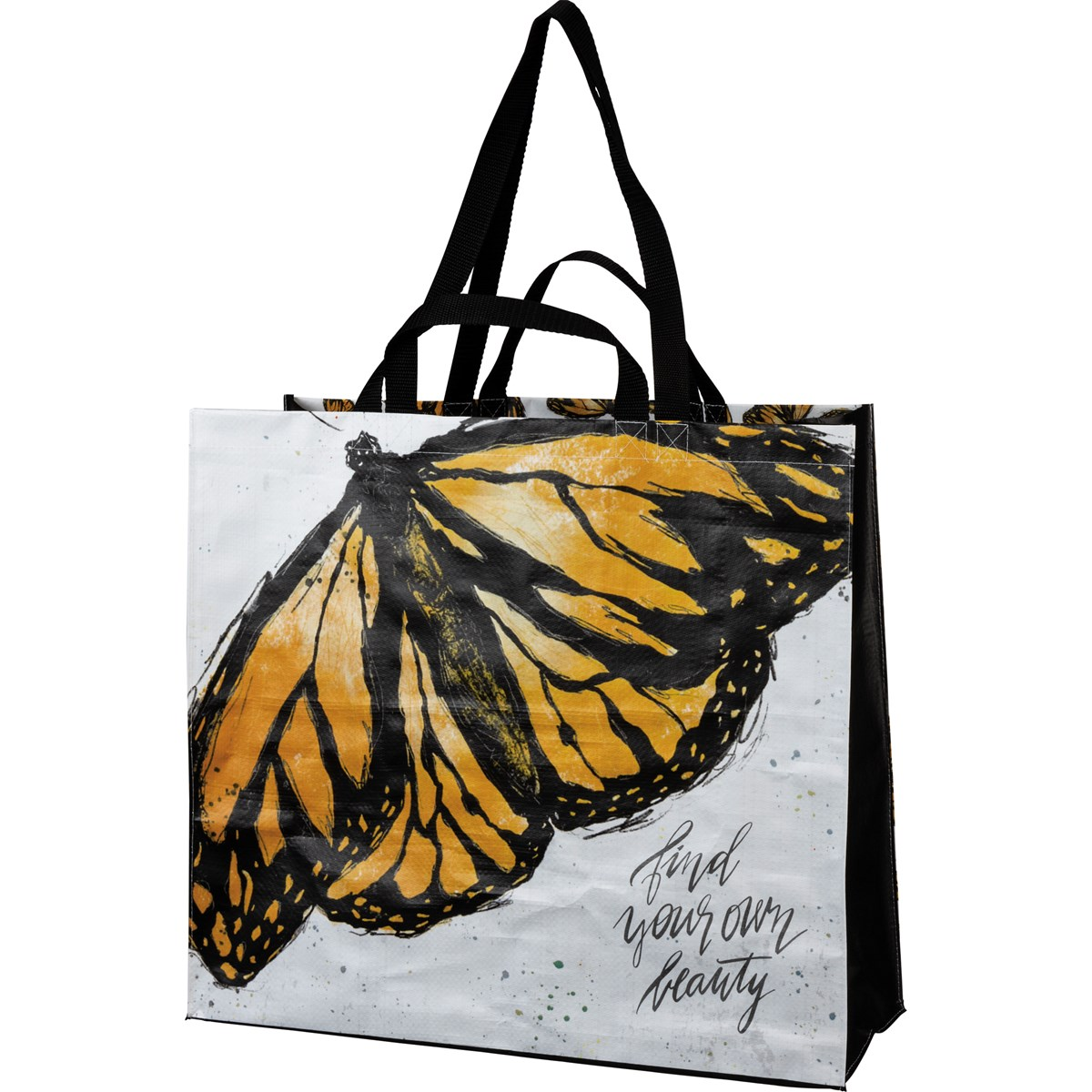 "Shopping Tote - Find Your Own Beauty - 19.50"" x 17.50"" x 7"" - Post-Consumer Material, Nylon"
