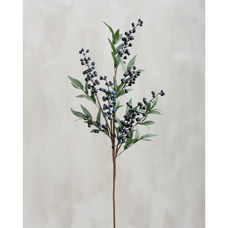 "Pick - Blueberries - 28"" Tall - Plastic, Fabric, Wire"