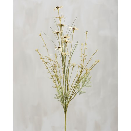 "Pick - Floral Mix Cream - 24"" Tall - Plastic, Wire, Fabric"