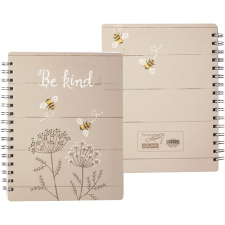 "Spiral Notebook - Be Kind - 7"" x 9"" x 0.50"" - Paper, Metal"
