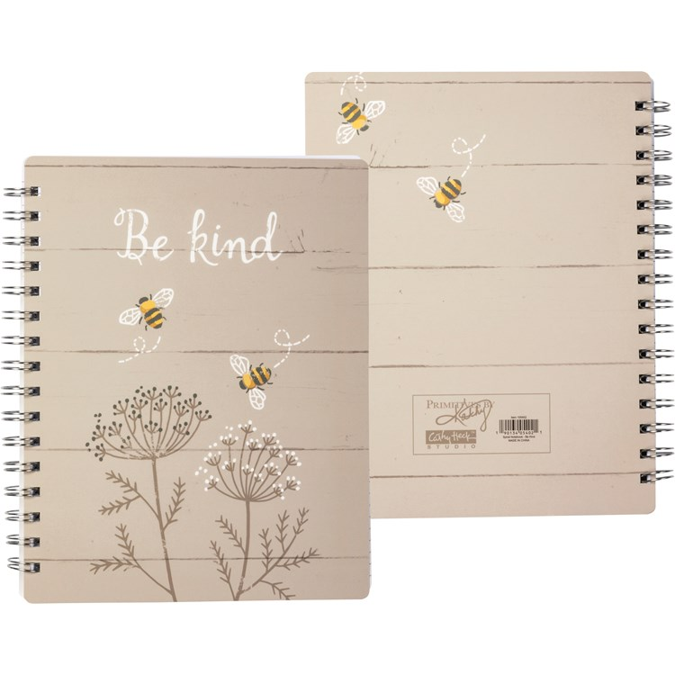 "Spiral Notebook - Be Kind - 5.75"" x 7.50"" x 0.50"" - Paper, Metal"