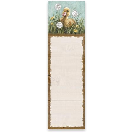 "List Notepad - Duckling - 2.75"" x 9.50"" x 0.25"" - Paper, Magnet"