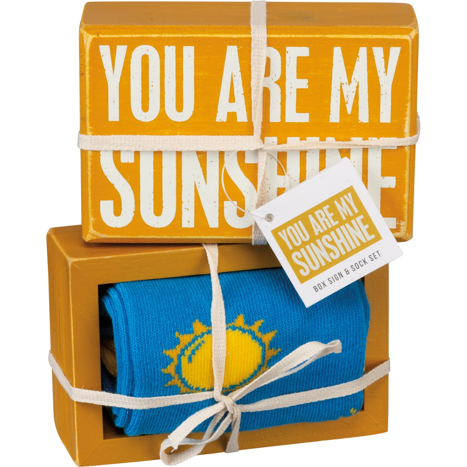 You are My Sunshine Primitives by Kathy Box Sign//Sock Set