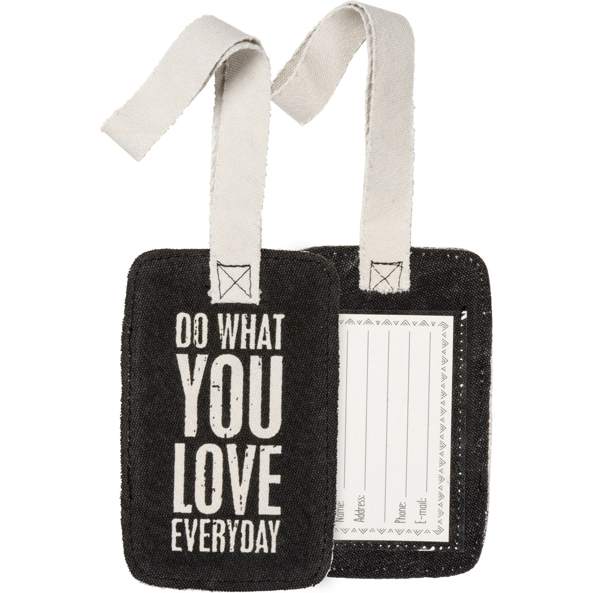 "Luggage Tag - Do What You Love Everyday - 3.25"" x 5.25"" - Canvas, Plastic"