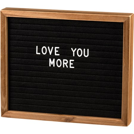 "Letter Board - Box Sign Style - 12"" x 10"" x 1.75"", Characters: 0.75"" Tall - Wood, Felt, Plastic"