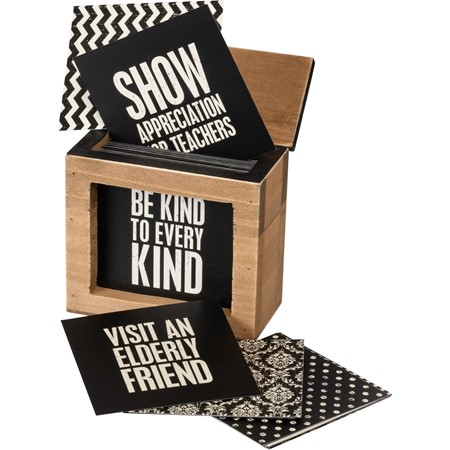 "Words Of Wisdom - Be Kind To Every Kind - 3.75"" x 3.50"" x 2.25"" - Wood, Paper, Metal"