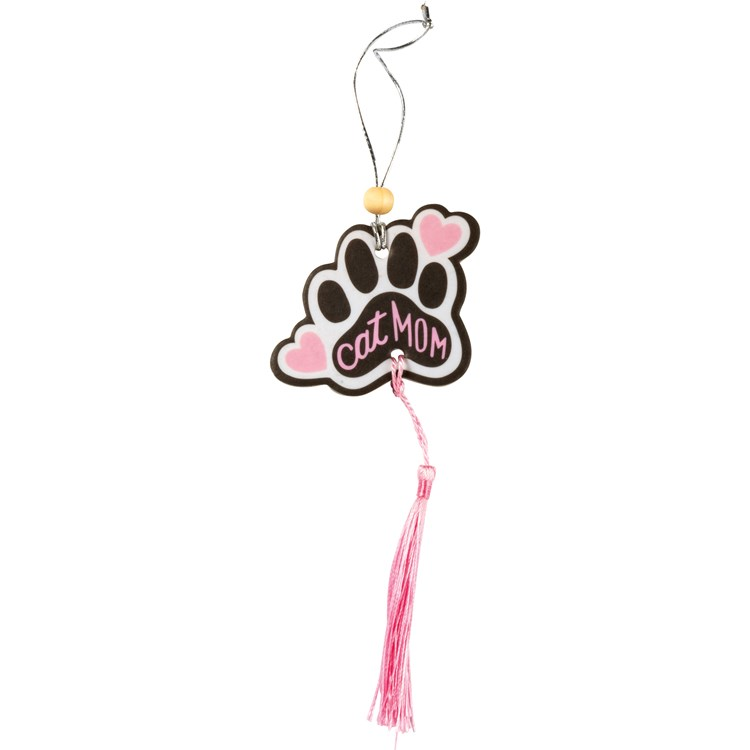 "Air Freshener - Cat Mom - 2.75"" x 5"", Card: 3"" x 6.25"" - Paper, String, Wood"