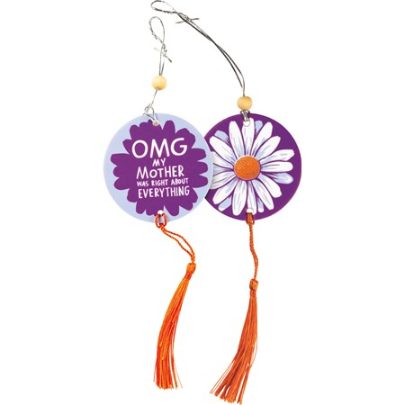 "Air Freshener - OMG My Mother Was Right - 2.75"" x 5"", Card: 3"" x 6.25"" - Paper, String, Wood"