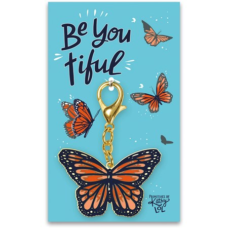 "Keychain - Be You Tiful - 2.25"" x 2.75"", Card: 3"" x 5"" - Metal, Enamel, Paper"