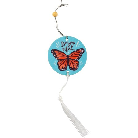 "Air Freshener - Be You Tiful - 2.75"" x 5"", Card: 3"" x 6.25"" - Paper, String, Wood"