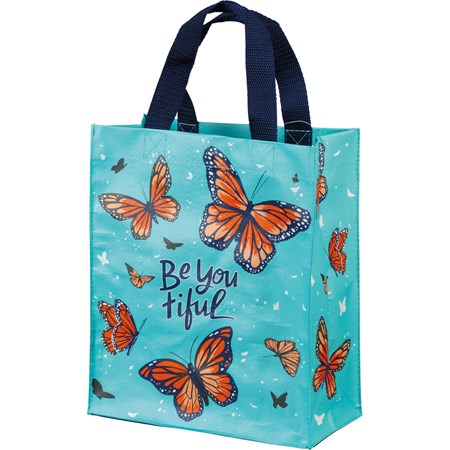 "Daily Tote - Be You Tiful - 8.75"" x 10.25"" x 4.75"" - Post-Consumer Material, Nylon"