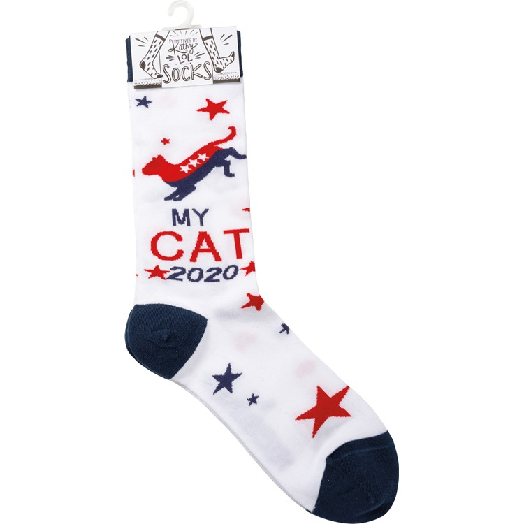 Socks - My Cat 2020 - One Size Fits Most - Cotton, Nylon, Spandex