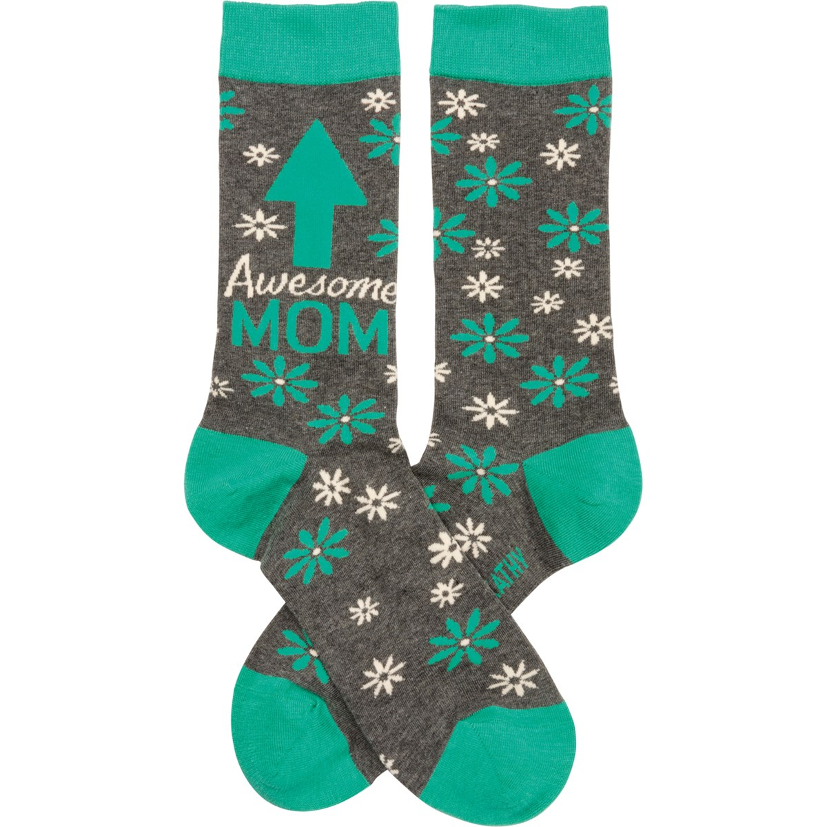 Socks - Awesome Mom - One Size Fits Most - Cotton, Nylon, Spandex