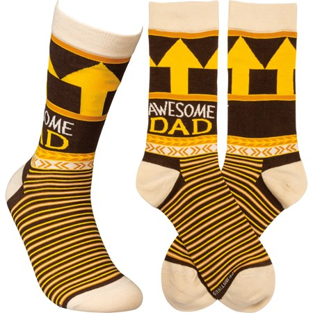 Socks - Awesome Dad - One Size Fits Most - Cotton, Nylon, Spandex