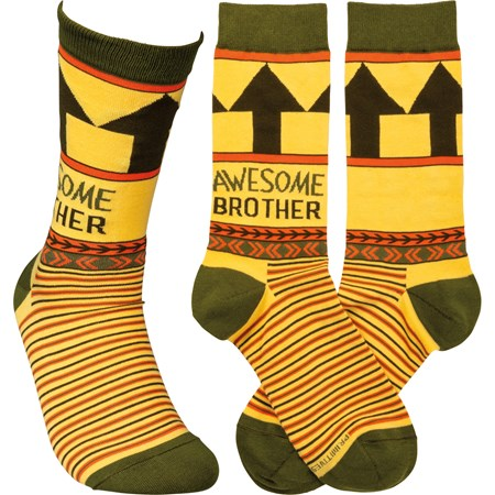 Socks - Awesome Brother - One Size Fits Most - Cotton, Nylon, Spandex